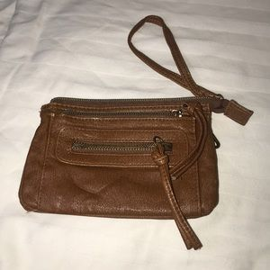 Brown Zip up Wallet